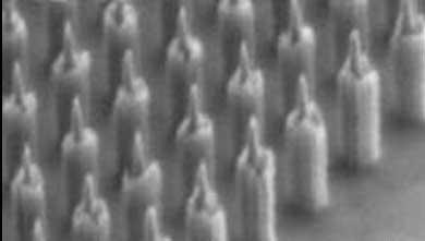 TiN /Alマスクにより形成したローソク型ダイヤモンドナノ突起